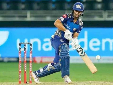 Ishan Kishan of MI scored 50 runs against Rajasthan Royals to help Mumbai Indians win the match by 8 wickets