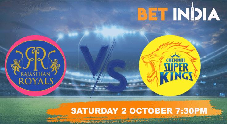 Rajasthan Royals v Chennai Super Kings Betting Tips & Predictions IPL 2021