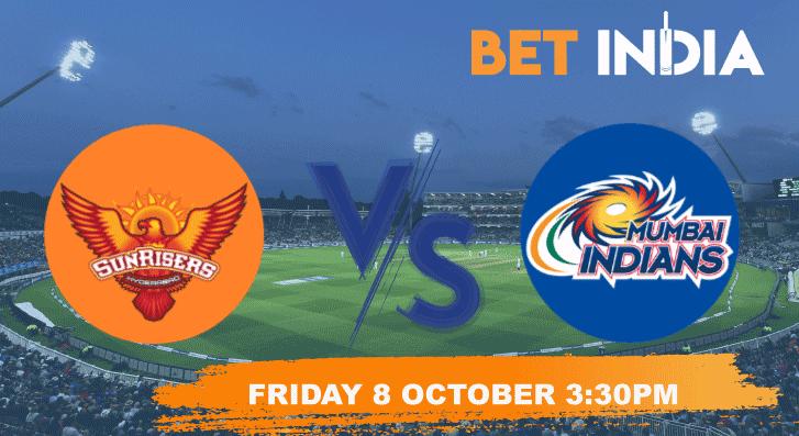 Sunrisers Hyderabad v Mumbai Indians Betting Tips & Predictions IPL 2021